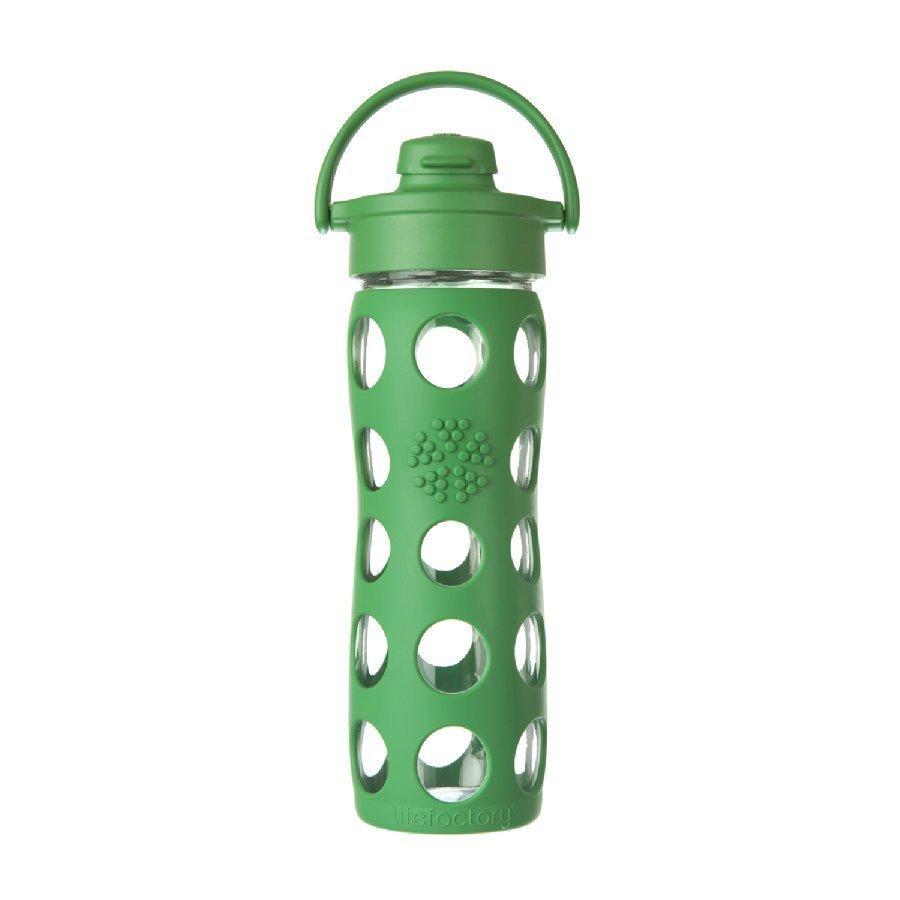 Lifefactory Lasinen Juomapullo Sporttikorkilla 475 Ml Grass Green