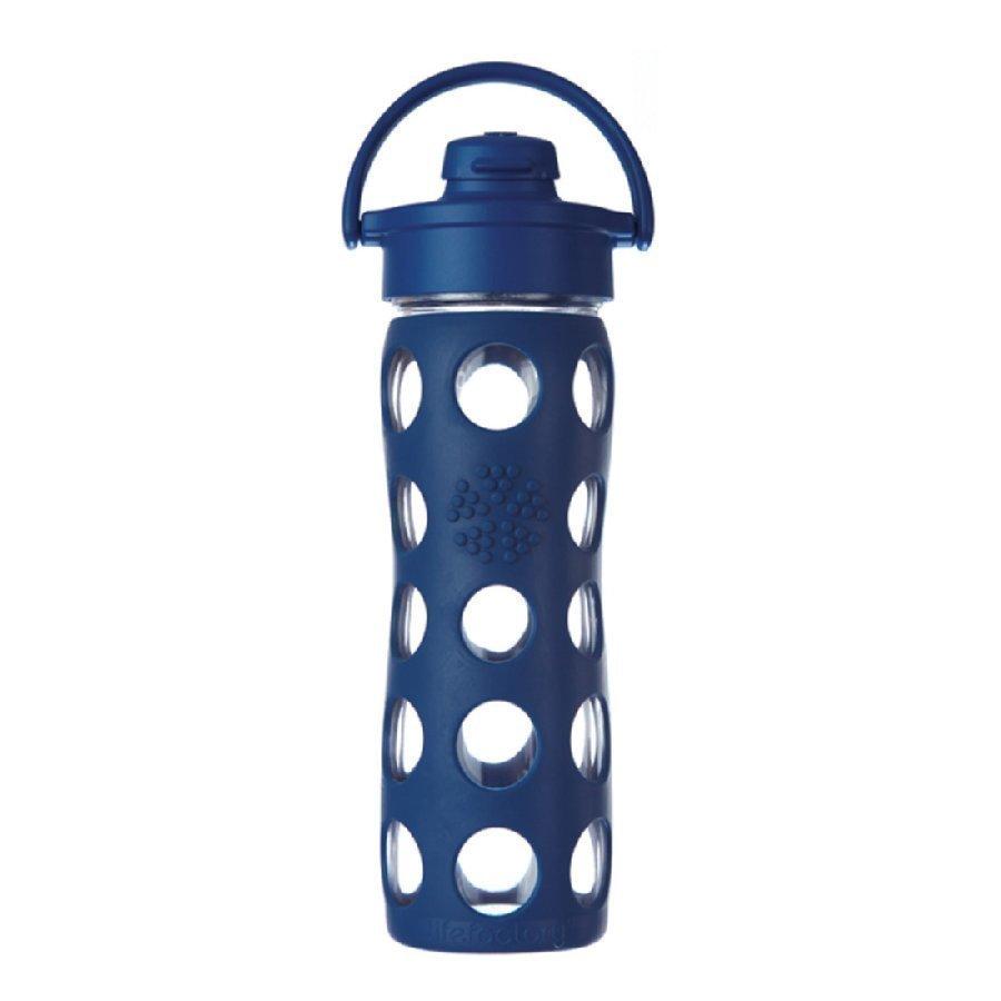 Lifefactory Lasinen Juomapullo Sporttikorkilla 475 Ml Midnight Blue