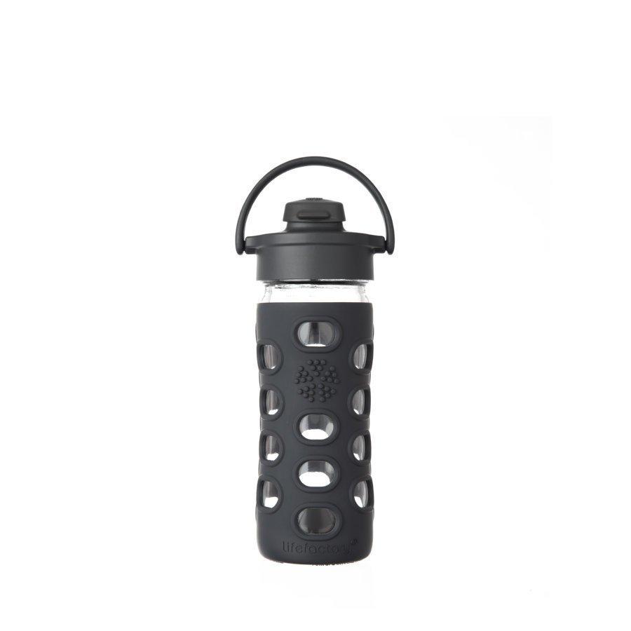 Lifefactory Trinkflasche Flip Top Cap 350 Ml Black