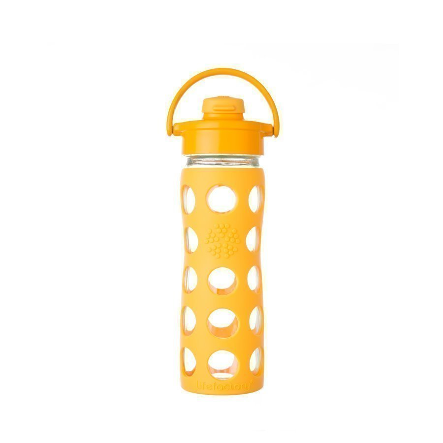 Lifefactory Trinkflasche Flip Top Cap 475 Ml Collegiate Yellow