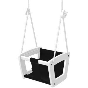 Lillagunga Toddler Keinu Valkoinen Musta Istuin