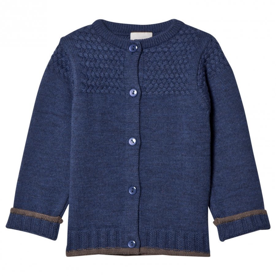Lillelam Basic Cardigan Blue Neuletakki
