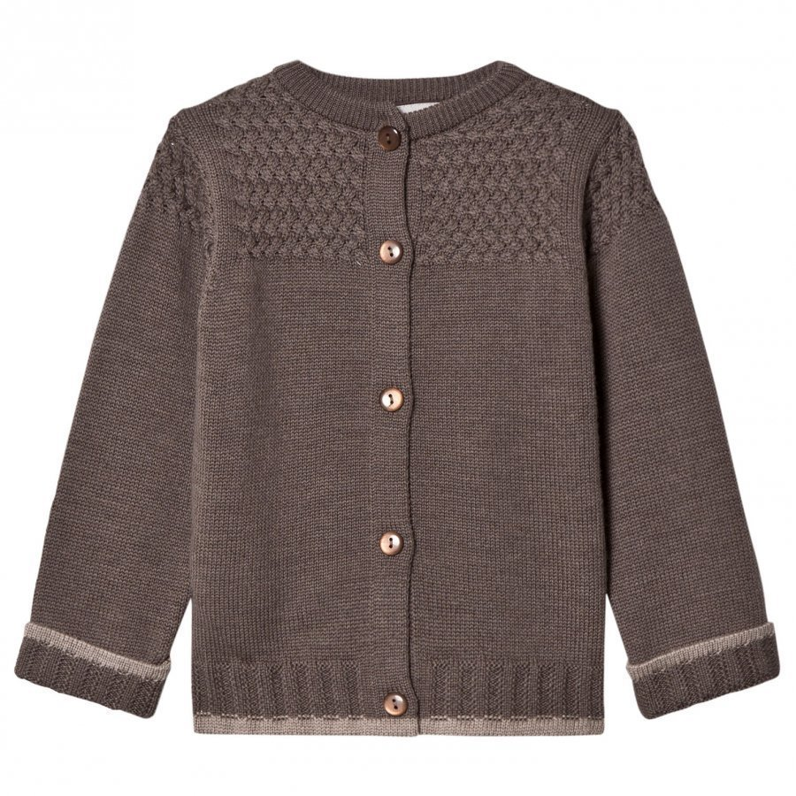 Lillelam Basic Cardigan Brown Neuletakki