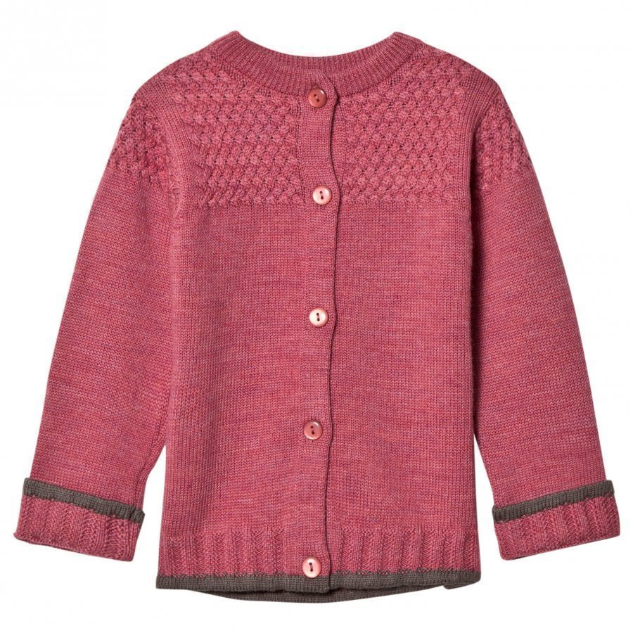 Lillelam Basic Cardigan Pink Neuletakki
