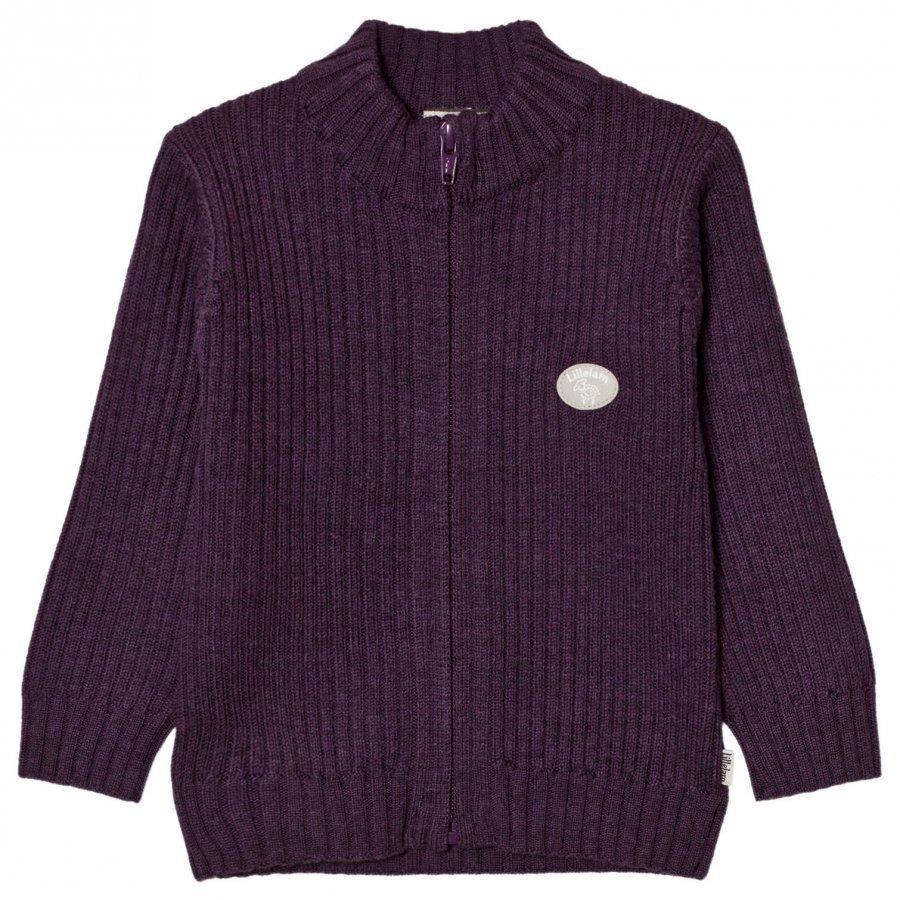 Lillelam Basic Jacket Purple Neuletakki