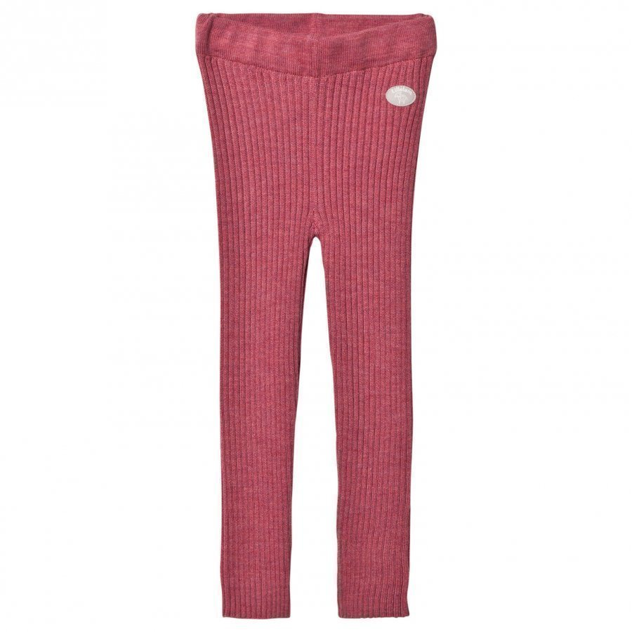 Lillelam Basic Rib Leggings Pink Housut