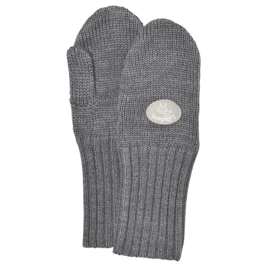 Lillelam Basic Wool Mittens Grey Villalapaset