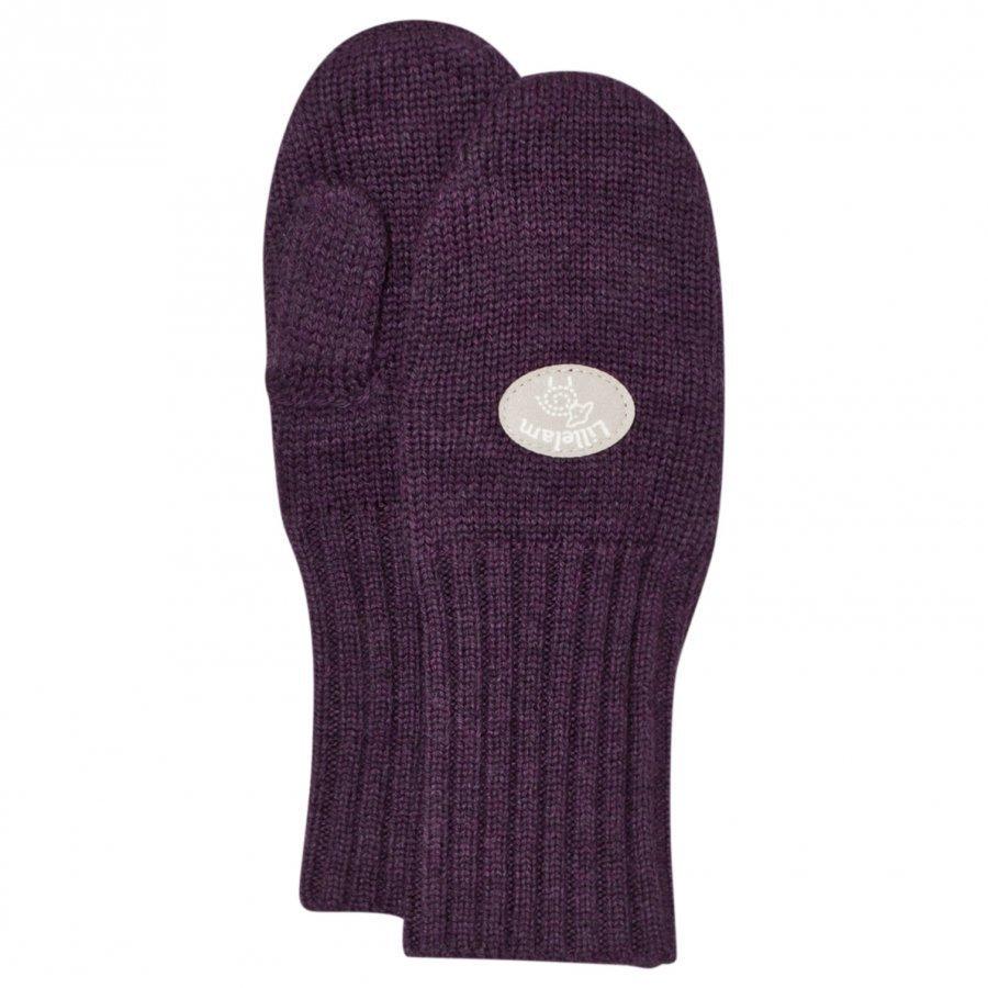 Lillelam Basic Wool Mittens Purple Villalapaset
