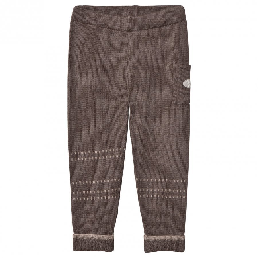 Lillelam Basic Wool Pants Brown Housut