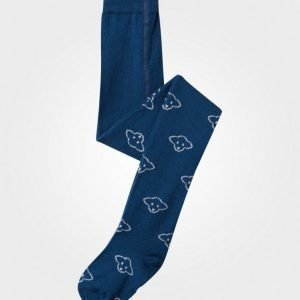 Lillelam Lammi Wool Tights Blue Sukkahousut