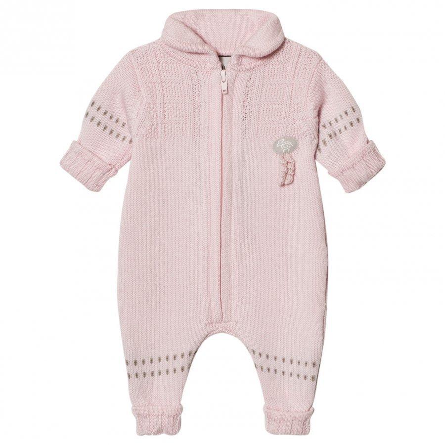 Lillelam Merino Wool Baby Onesie Basic Pink Potkupuku