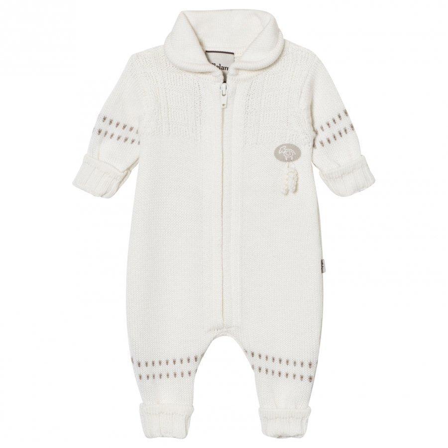 Lillelam Merino Wool Baby Onesie Basic White Potkupuku