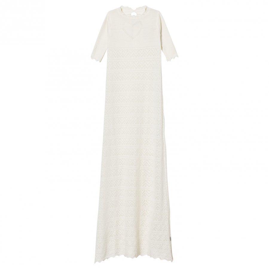 Lillelam Merino Wool Christening Robe White Mekko