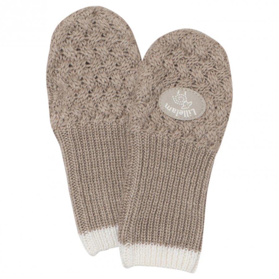 Lillelam Merino Wool Mittens Basic Beige Villalapaset