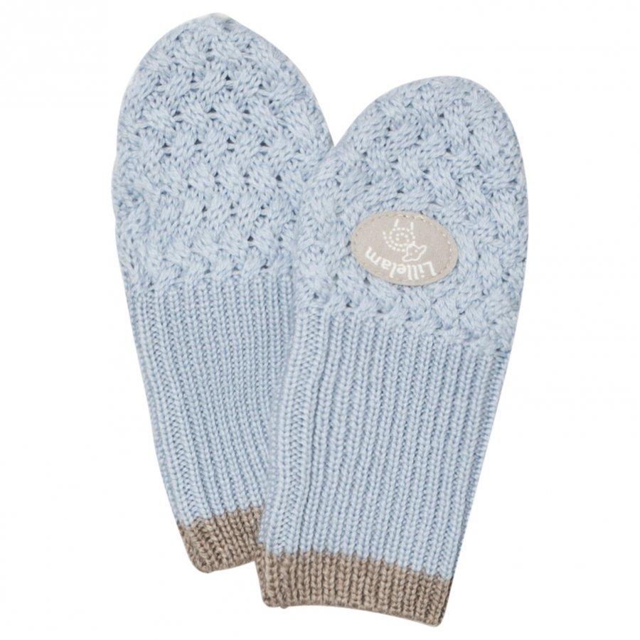 Lillelam Merino Wool Mittens Basic Blue Villalapaset