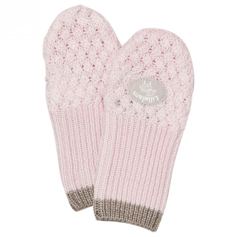 Lillelam Merino Wool Mittens Basic Pink Villalapaset