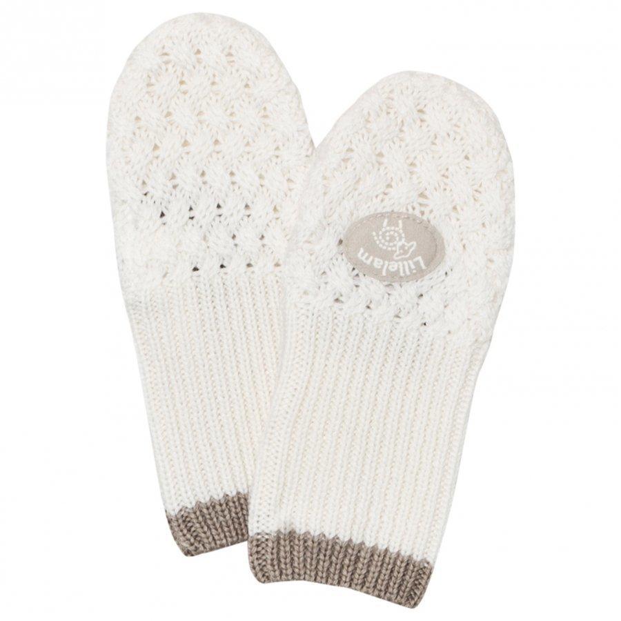 Lillelam Merino Wool Mittens Basic White Villalapaset