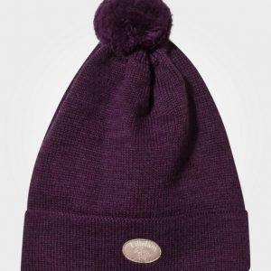 Lillelam Pompom Hat Plum Pipo