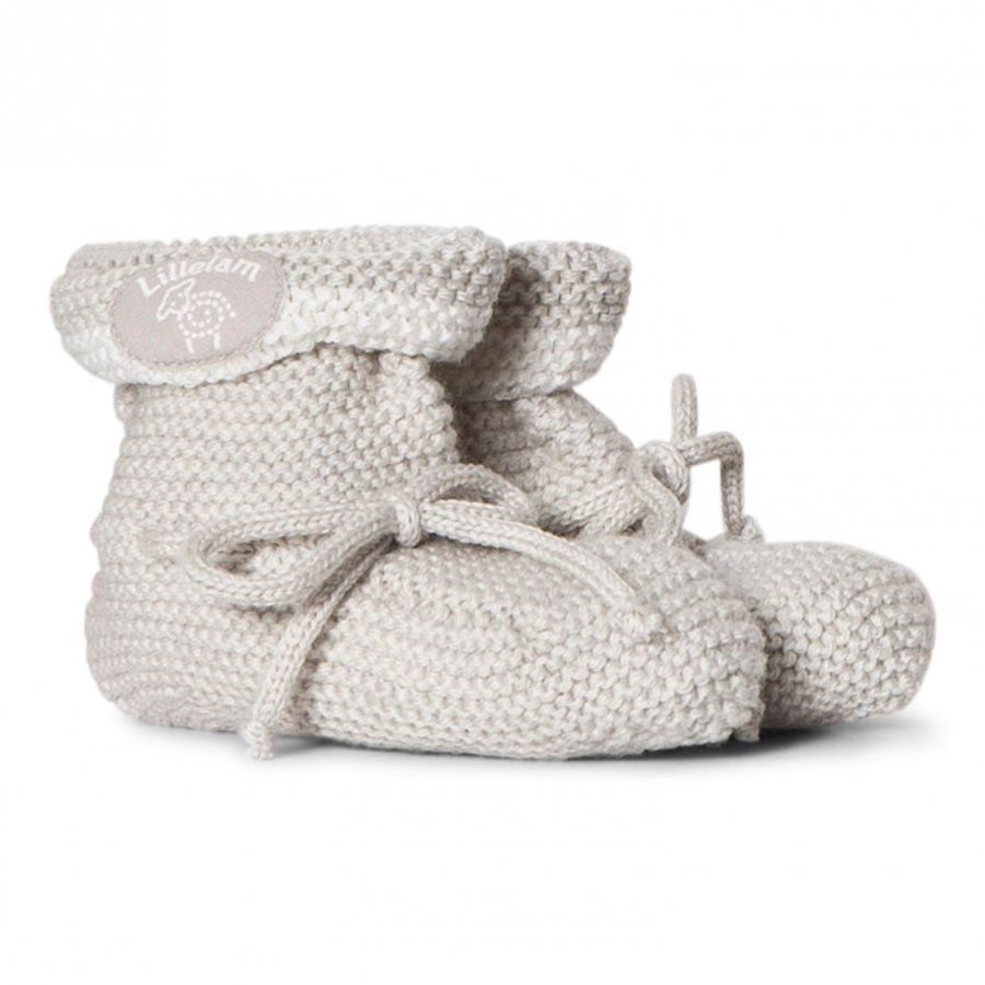 Lillelam Seamless Slippers Light Grey Korkeavartiset Tossut