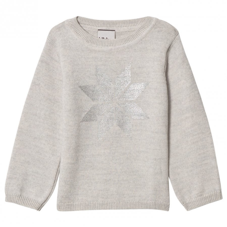 Lillelam Snow Crystal Sweater Grey Paita