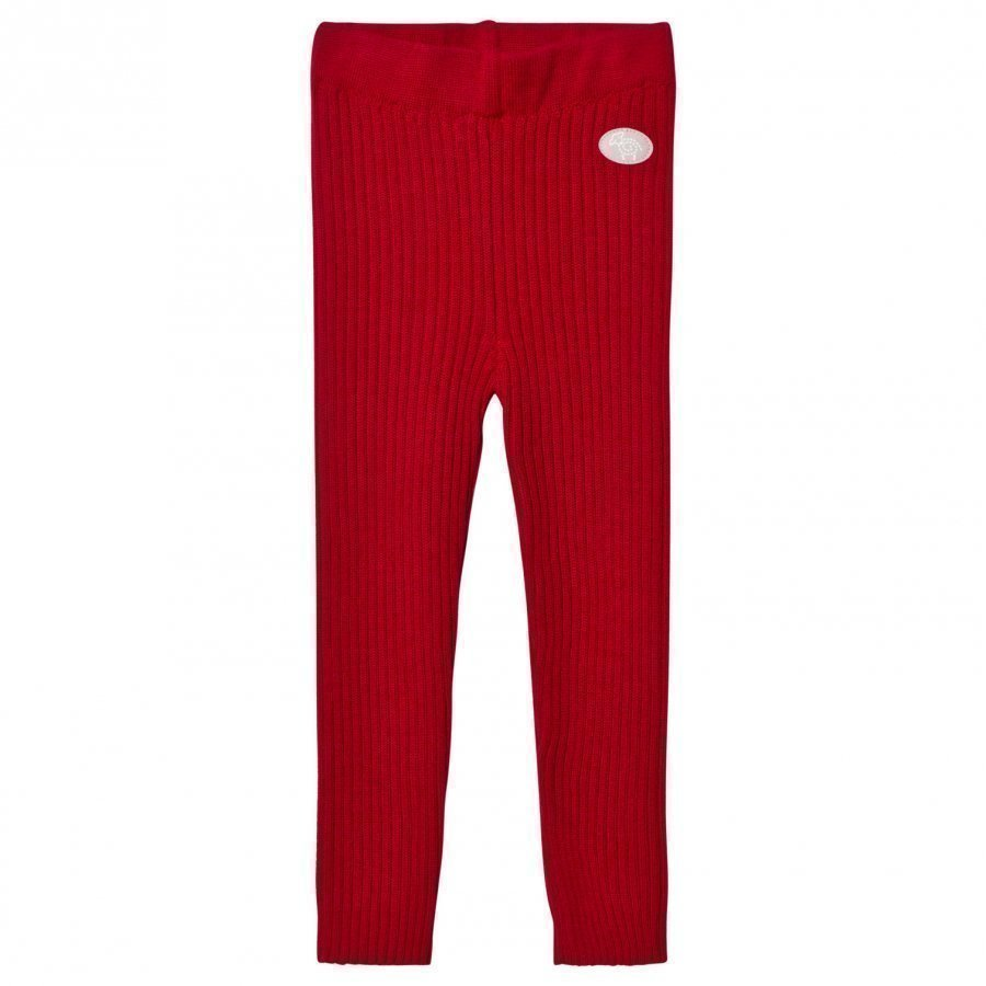 Lillelam Winter Rib Leggings Red Housut