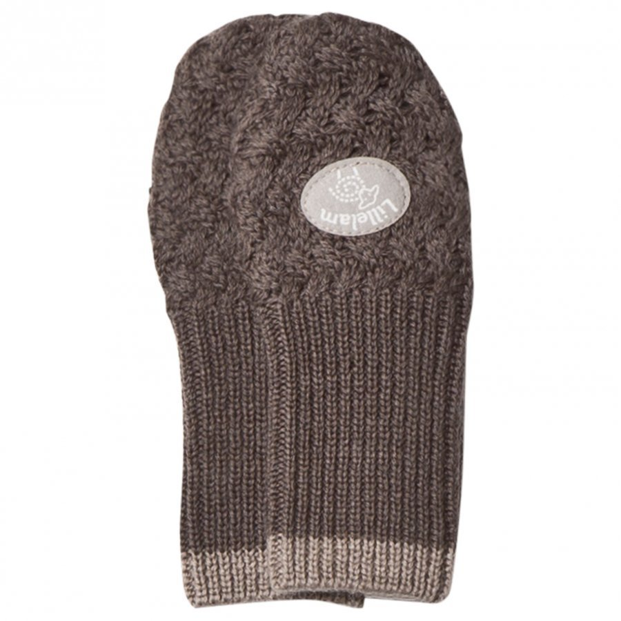 Lillelam Wool Mittens Basic Brown Villalapaset