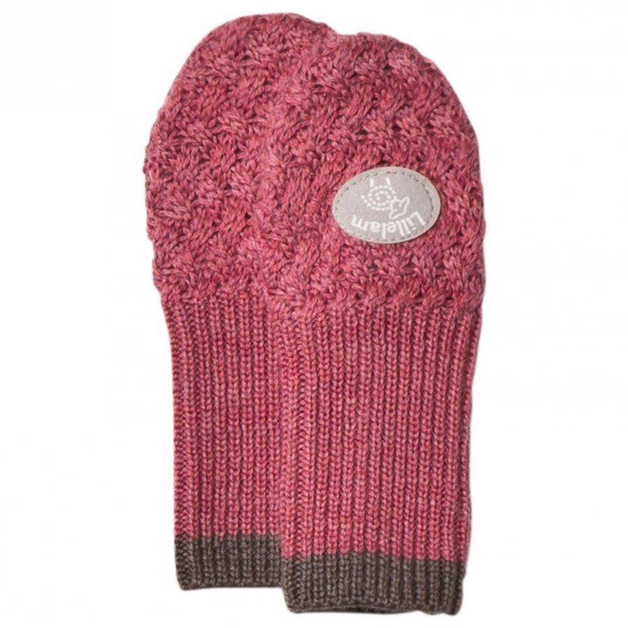 Lillelam Wool Mittens Basic Pink Villalapaset