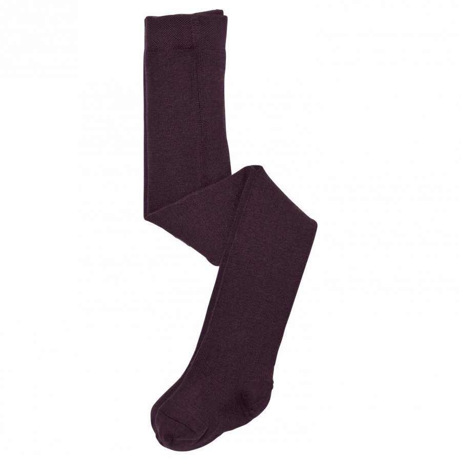 Lillelam Wool Tights Plum Sukkahousut