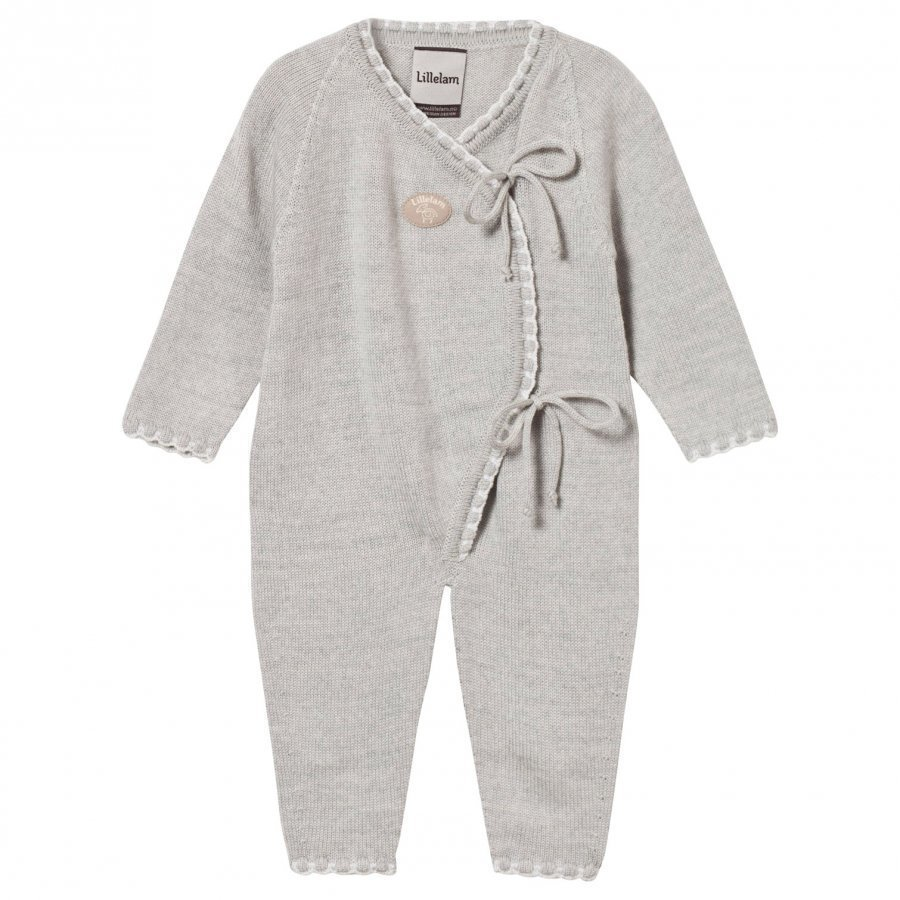 Lillelam Wrap Front Onesie Light Grey Body