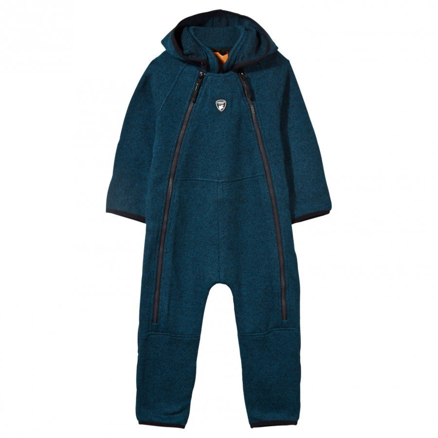 Lindberg Bormio Baby Coverall Petroleum Blue Fleece Haalarit