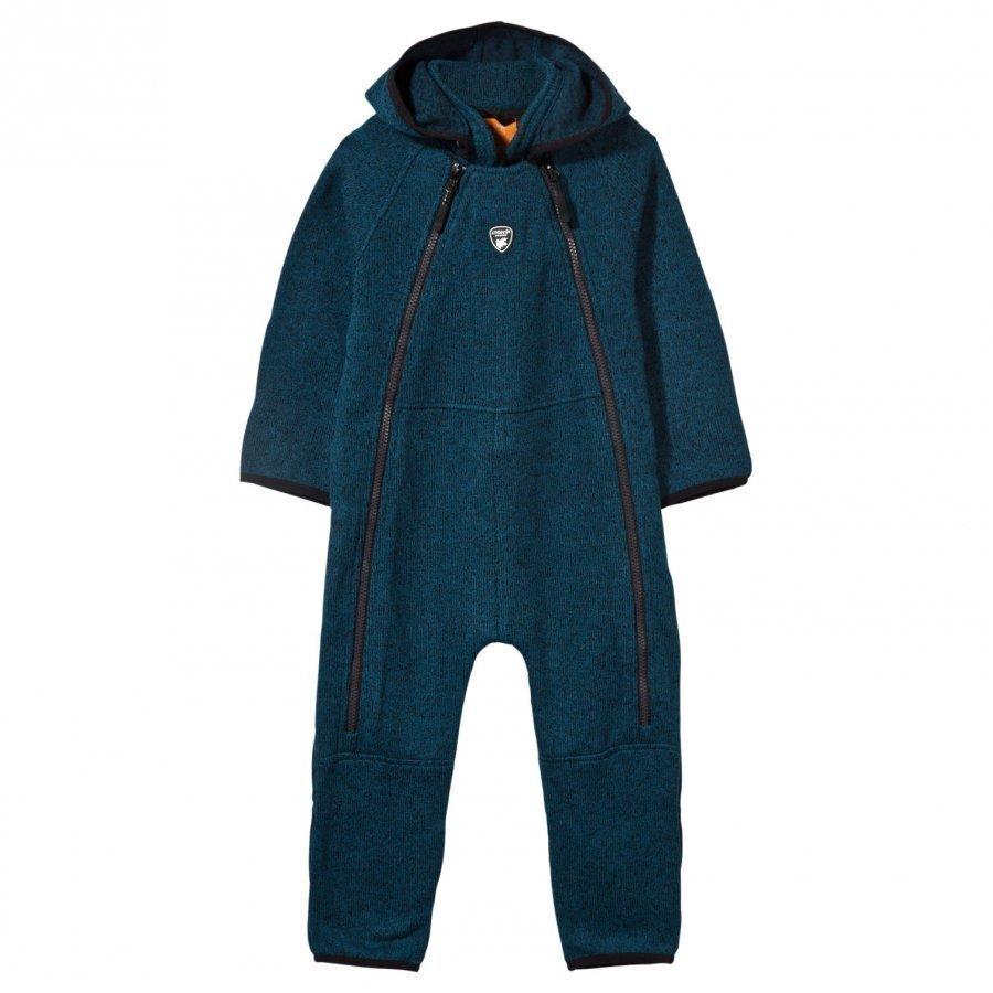 Lindberg Bormio Baby Coverall Petroleum Blue Fleece Haalarit