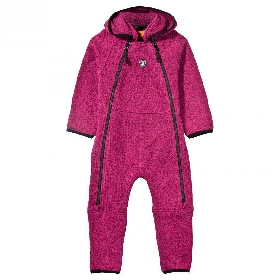 Lindberg Bormio Baby Coverall Pink Fleece Haalarit