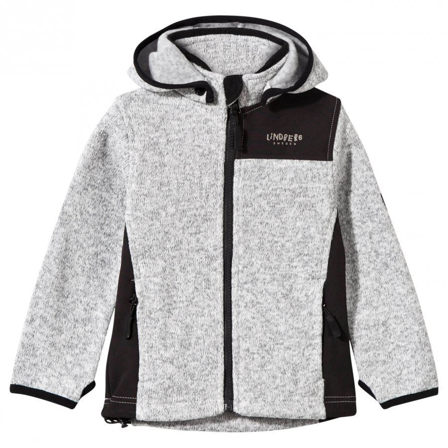 Lindberg Bormio Jacket Grey Melange Fleece Huppari