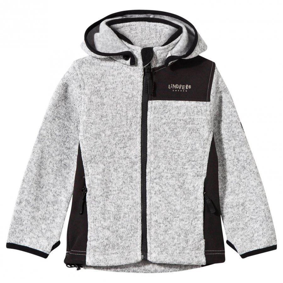 Lindberg Bormio Jacket Grey Melange Fleece Huppari
