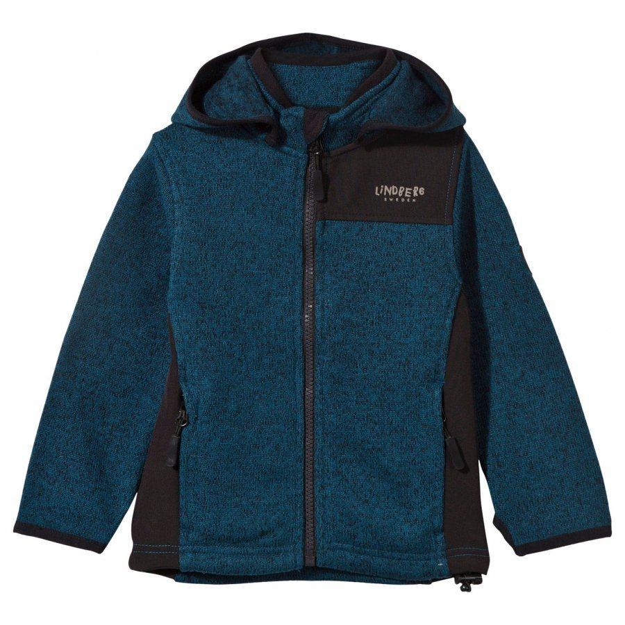 Lindberg Bormio Jacket Petroleum Blue Fleece Huppari