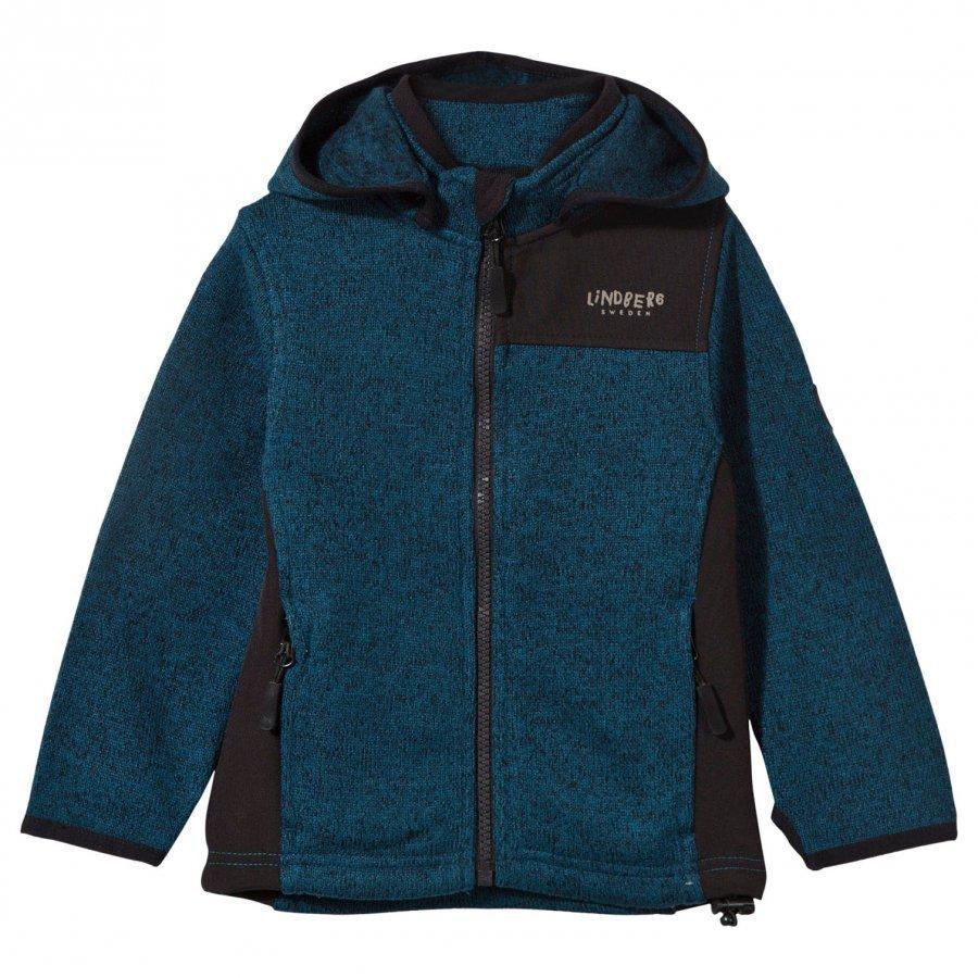 Lindberg Bormio Jacket Petroleum Blue Fleece Huppari