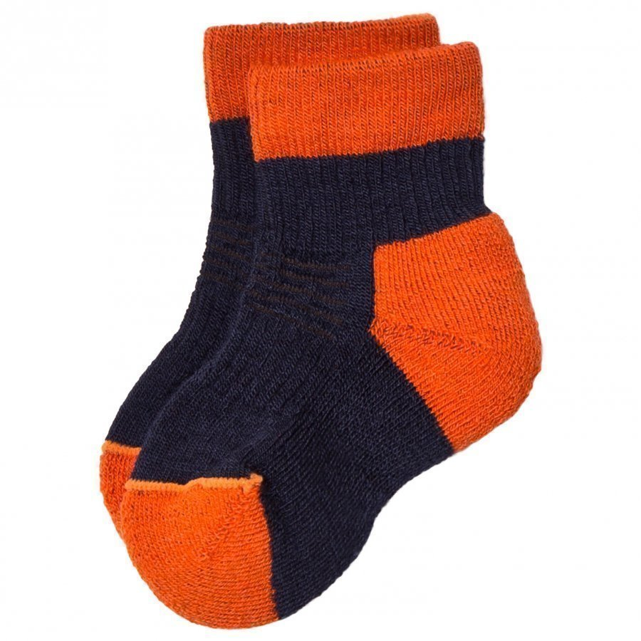 Lindberg Fotingen Ankel Sock Navy/Orange Sukat