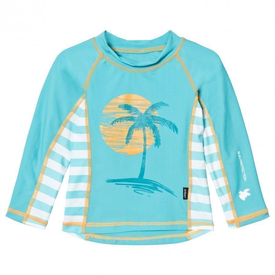 Lindberg Hero Shirt Turquoise Aurinkopuku