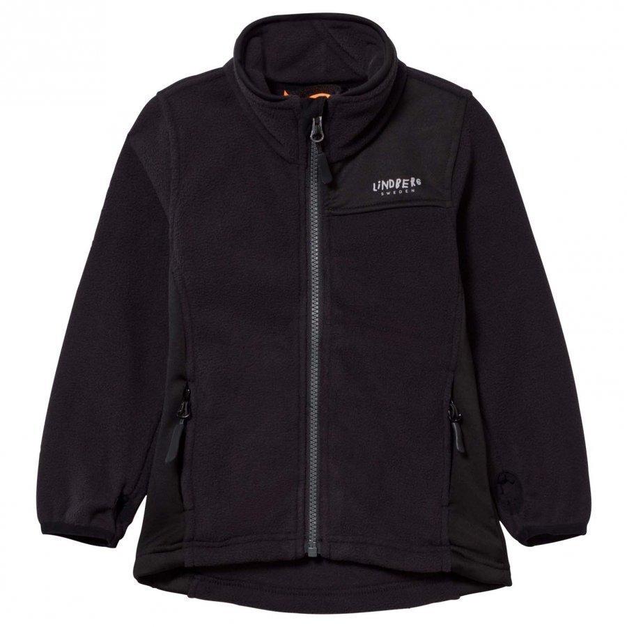 Lindberg Sävar Fleece Jacket Black Fleece Takki