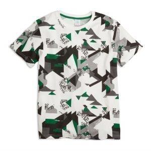 Lindex Kuvioitu T-Paita Valkoinen