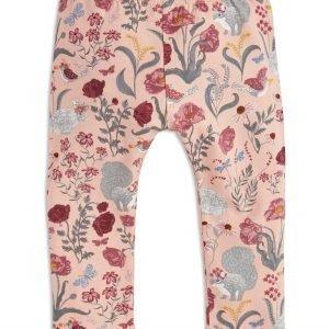 Lindex Leggingsit Kukkakuviolla Vaaleanpunainen