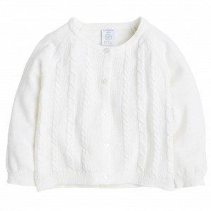 Lindex Palmikkoneuletakki Valkoinen