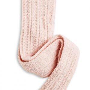 Lindex Palmikkoneulossukkahousut Villasekoitetta Vaaleanpunainen
