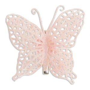 Lindex Perhoshiussolki Vaaleanpunainen