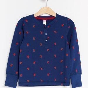 Lindex Pyjama Joissa Painatus Sininen