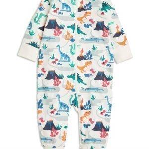 Lindex Pyjama Jossa Dinosauruspainatus Valkoinen