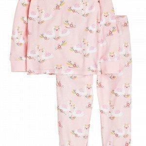 Lindex Pyjama Jossa Joutsenia Vaaleanpunainen