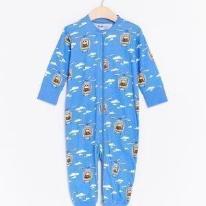 Lindex Pyjama Jossa Mikko Mallikas Painatus Sininen