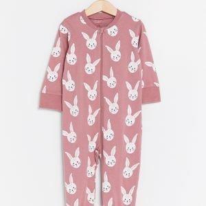 Lindex Pyjama Jossa Painatus Liila