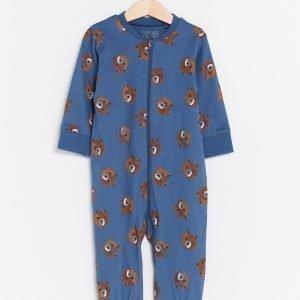 Lindex Pyjama Jossa Painatus Sininen